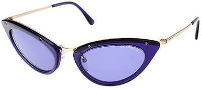 New Authentic TOM FORD Sunglasses GRACE FT 349 90V Blue Frame & Blue Lens