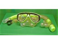 SILICONE SNORKEL TUBE AND FACE MASK. 2 Sets Available