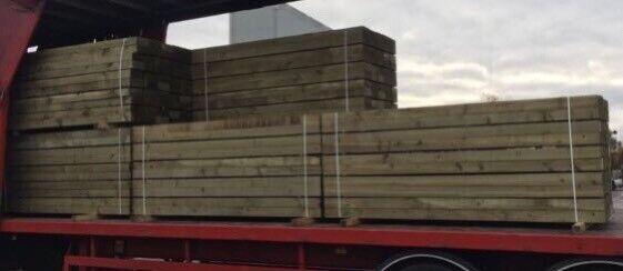 🦋 •New• Tanalised Wooden/ Timber Railway Sleepers