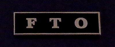 FTO Silver on Black Uniform Award/Commendation Bar police field training officer
