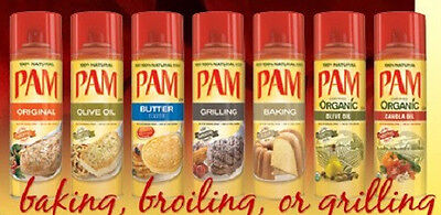 Fat Free Butter Spray - Pam no stick cooking spray ~ FAT FREE COOKING Baking Butter Grilling Olive Oil