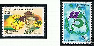 Cocos (Keeling) Is 1982 Anniv of Boy Scouts SG82/3 MNH