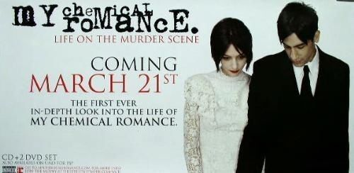 My Chemical Romance 2006 murder scene promo poster 2 Flawless New Old Stock