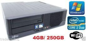 FUJITSU ESPRIMO PC - Intel Core 2 Duo 4 GB Ram 250 GB Win 7 + WiFi- OPEN BOX