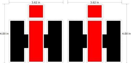 International Harvester Logo >> International Tractor Decals | eBay