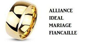 BAGUE-ANNEAU-ALLIANCE-MARIAGE-HOMME-FEMME-ADO-ACIER-NEUF-LARGE-PLAQUE ...