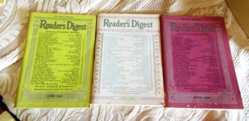 Vintage Readers Digest Magazines
