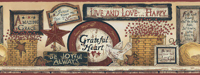 COUNTRY INSPIRATIONAL SIGNS Wallpaper Border BY YORK