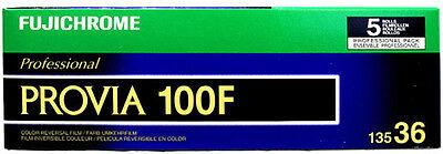 5 Rolls Fujifilm RDP-III Fujichrome 135-36 Provia 100f Color Slide Film 11/2017