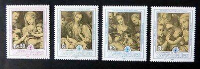Weihnachten 1991, Mi.Nr. 752/55 postfrisch. (P0222)