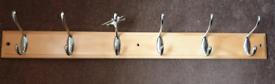 6 hook coat rack