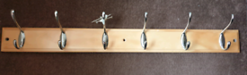 6 hook coat rack