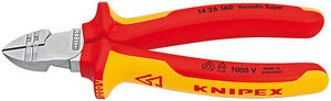 Knipex-14-26-160-VDE-Insulated-1-5mm-2-5mm-Wire-Stripper-Side-Cutter-NS