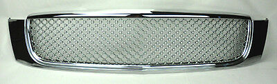 Cadillac Deville 00-05 Front Honeycomb Mesh Bumper Hood Chrome Grill