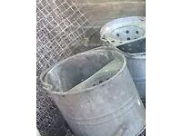 Galvanised steel mop buckets