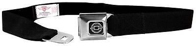 Seatbelt Men Canvas Web Military Webbing Chevy Chevrolet Black Logo Camaro