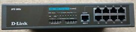 D-Link 8 Port Ethernet Hub 10Base-T