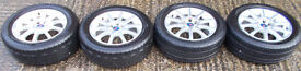 "SAAB ALLOY WHEELS 10 Spoke 16"" Set x4 with Tyres"