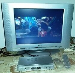 "20"" LG LCD TV with set top box"