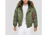 Alpha Industries Men's (USAF) N2B Hooded extreme weather Jacket