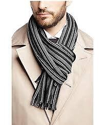 Hugo boss black fadon scarf from merino wool