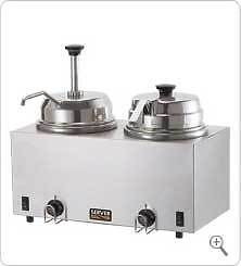 Server 81290 Twin FS/FSP Topping Warmer w/ Pump & Ladle