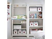 Ikea nursery furniture change table and bookshelf