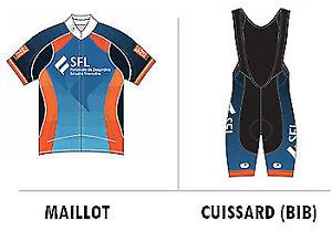 KIT NEUF maillot + cuissard LE GRAND DÉFI PIERRE LAVOIE 1 000 KM