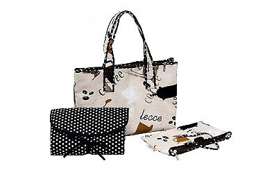 Cappuccino Wickeltasche Set - Shopper Bag