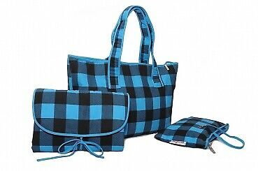 Keck Kariert Wickeltasche Set - Shopper Bag