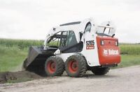 snow clearing for driveways or parking lots using a skidsteer