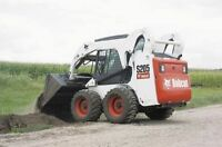 snow removal with a bobcat skidsteer