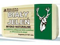 NATURAL HYPOALLERGENIC GREY SOAP - SZARE MYDLO - BIALY JELEN - 150g