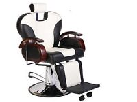 NEW HEAVY DUTY WHITE&BLACK BARBER CHAIR BX 2685 B More than 100 pcs available