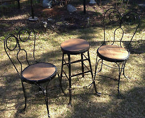 Set of Antique Ice Cream Parlour Chairs