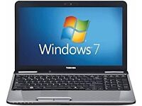 """TOSHIBA L735 13.3"""" LAPTOP, £120 WN2 WITH CARRY CASE AND CHARGER"""