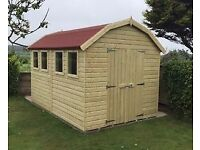 Large Shed, Brand New Garden Shed, 12ft x 8ft Dutch Barn Style from £1,525.00