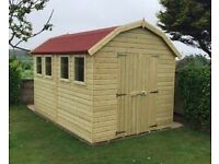 Large Shed, Brand New Garden Shed, 12ft x 8ft Dutch Barn Style from £1,449.00