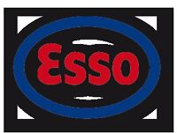 Esso branded gas station with touchless car wash