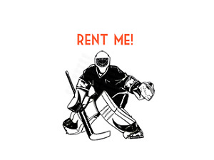 RENT A GOALIE - ICE HOCKEY GOALIE SERVICE $40/HR GREAT RATE