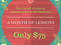 Give the gift of piano lessons to someone you love