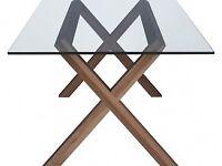 HABITAT DUBLIN 6 Seater Oak And Glass Dining Table ***RRP £395***
