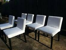 6 White Nils Dining Chairs Mosman Mosman Area Preview