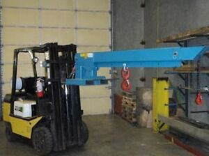 FORKLIFT BOOM CRANE. FORK LIFT JIB BOOMS. IN STOCK & LOW PRICING
