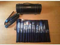 MAC hard case barrel brush gift set brand new xmas gift