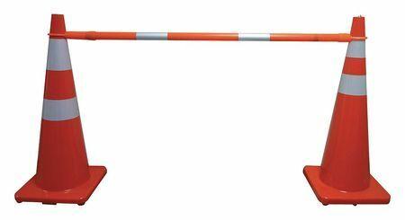 Zoro Select 9Xpy3 Telescoping Cone Bar,Orange,60-108 In L