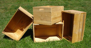 Decorative light duty wooden crates