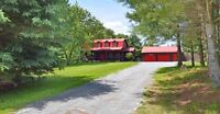 Large country log home on 2 acres in Port Perry area for rent