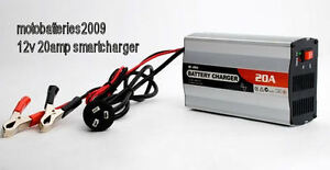 12V 20AMP SMART BATTERY CHARGER 3 STAGE AGM GEL CARAVAN 4WD MARINE AUTO