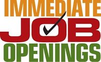 !!!IMMIDIATE JOB OPENINGS IN BRAMPTON &MISSISSAUGA!!!